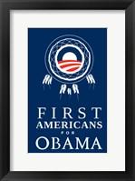 Framed Barack Obama - (First Americans for Obama) Campaign Poster