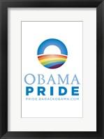 Framed Barack Obama - (Obama Pride) Campaign Poster