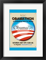 Framed Barack Obama - (Obamathon) Campaign Poster