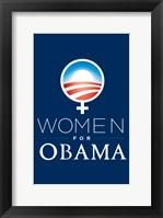 Framed Barack Obama - (Women for Obama) Campaign Poster