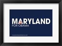 Framed Barack Obama - (Maryland for Obama) Campaign Poster