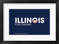 Framed Barack Obama - (Illinois for Obama) Campaign Poster