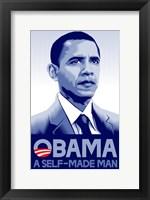 Framed Barack Obama - (A Self Made Man) Campaign Poster