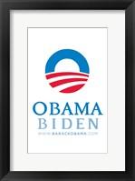 Framed Barack Obama - (Obama Biden) Campaign Poster