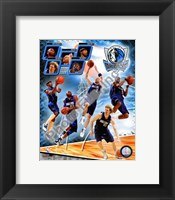 Framed 2008-09 Dallas Mavericks Team Composite