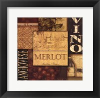 Framed Wine Collage Red & White II