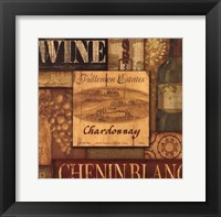 Framed WIne Collage -White