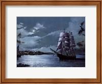 Framed Peaceful Harbor