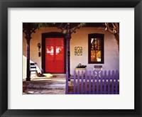 Purple Picket Fence Framed Print