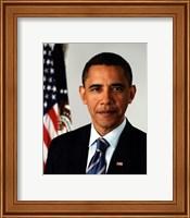 Framed Barack Obama 09 Official Portrait
