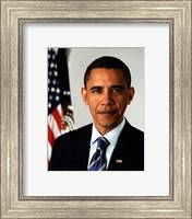 Framed Barack Obama 09 Official Portrait