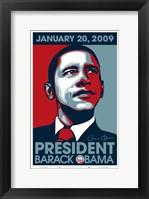 Framed Barack Obama - Inauguration 2009
