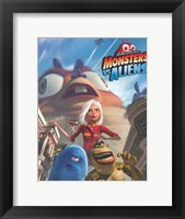 Framed Monsters vs. Aliens, c.2009 style A