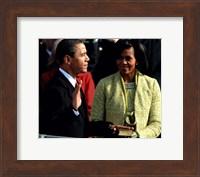 Framed 2009 Barack Obama Inaugural Address With Michelle Obama