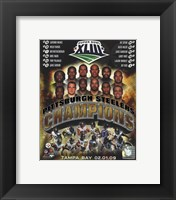 Framed Pittsburgh Steelers 2009 SuperBowl XLIII Champions Composite