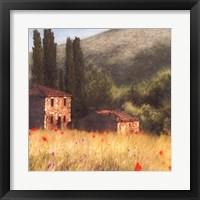 Framed Villa and Cypress