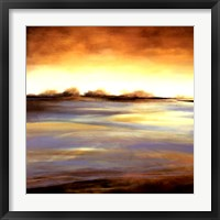 Framed Stewart Lake at Dawn I