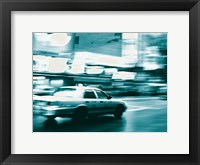 Framed NYC Broadway Taxi