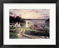 Framed Island Sunset