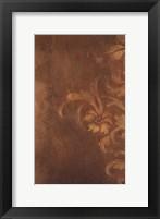 Framed Bronze Flourish I