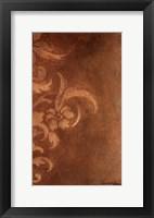 Framed Bronze Flourish II