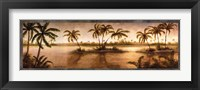 Framed Golden Tropics II