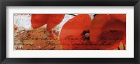 Poppies Composition III Framed Print