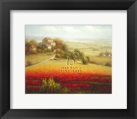 Framed Fields of Red and Gold I