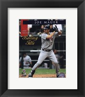 Framed Joe Mauer 2008 American League Batting Title With Overlay