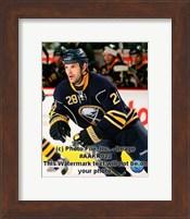 Framed Paul Gaustad 2008-09 3rd Jersey
