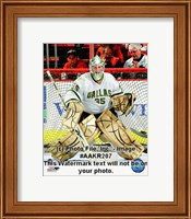 Framed Marty Turco 2008-09 Away Action