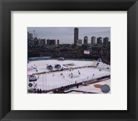 Framed Wrigley Field 2008-09 NHL Winter Classic
