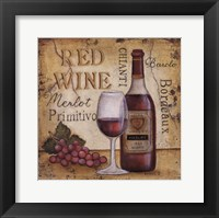 Framed Red Wine