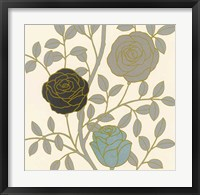 Framed Rose Garden I Gold