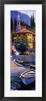 Framed Lake Como Crossing Panel I