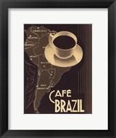 Cafe Brazil II Framed Print