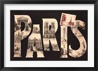 Framed Postcard from Paris