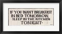 Framed Breakfast in Bed