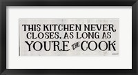 You're the Cook Framed Print