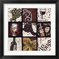 Framed Wine Time