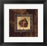 Autumn Leaf Square I Framed Print