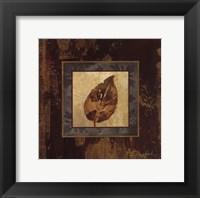 Autumn Leaf Square III Framed Print