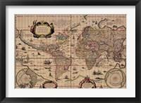Framed Explorer's World, 1630, Blau