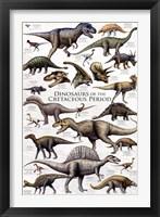 Framed Dinosaurs - Cretaceous Period