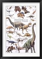 Framed Dinosaurs - Jurassic Period