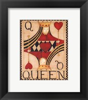 Framed Queen of Hearts