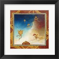 Framed Voyage en ballon - gold