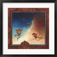 Framed Voyage en ballon