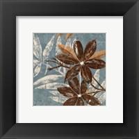 Framed Flowers on Denim IV