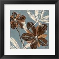 Framed Flowers on Denim III